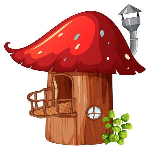 Enchanted mushroom wooden house