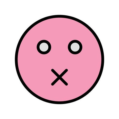 Mute Emoji Vector Icon