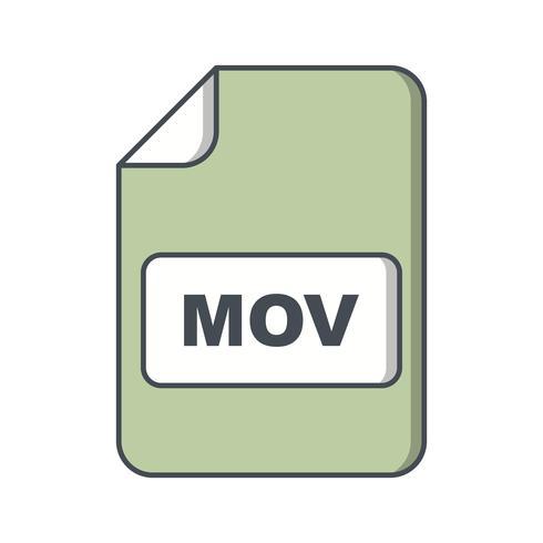 icono de vector mov