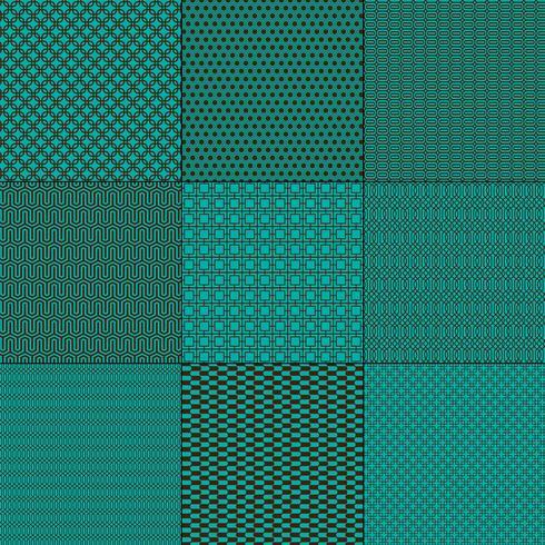 azul turquesa e marrom mod padrões geométricos
