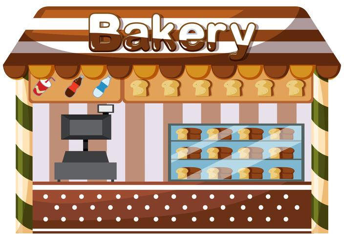 A bakery shop on white background