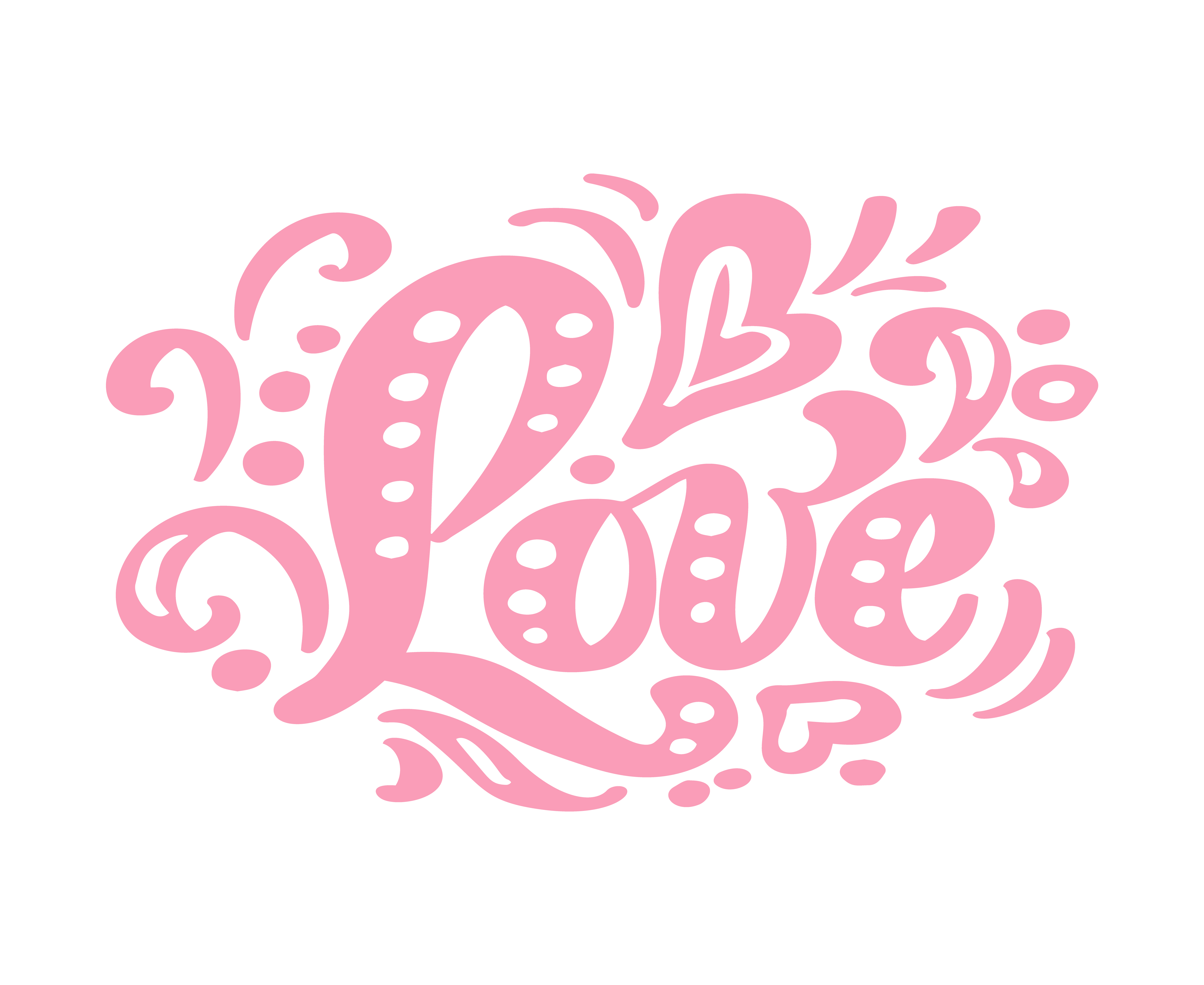 Download Love pink calligraphy lettering vintage vector text. For ...
