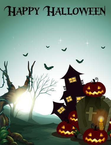 Modello di halloween felice scuro