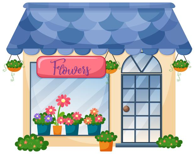 Exterior of flower shop