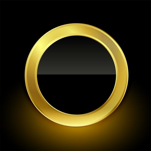 golden empty badge label button design