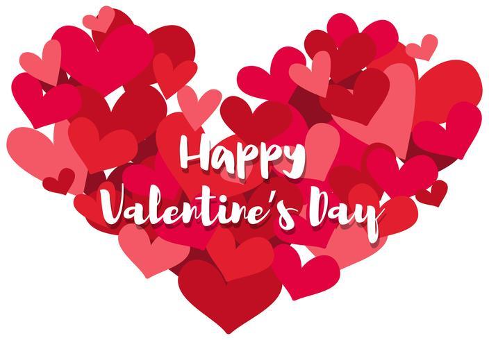 Gelukkige Valentijnsdag met veel harten