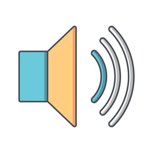 Ícone de vetor de baixo volume