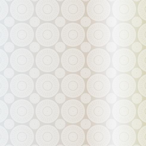 silver white fretwork medallion pattern