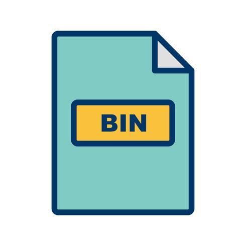Ícone de vetor BIN