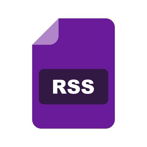 icono de vector rss