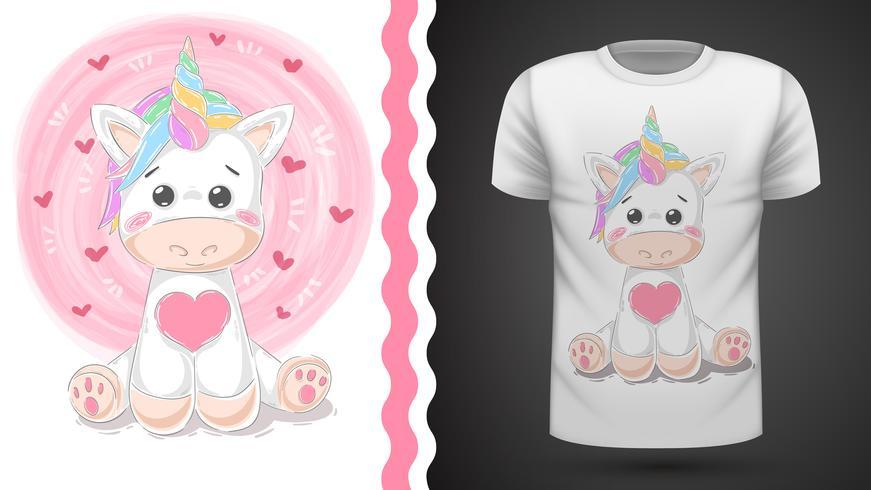 Unicórnio fofo - idéia para impressão t-shirt