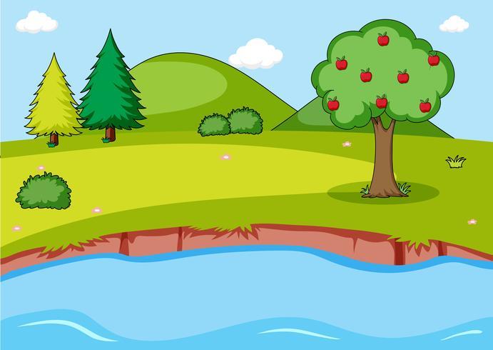 Fond De Paysage De Nature Simple Telecharger Vectoriel Gratuit