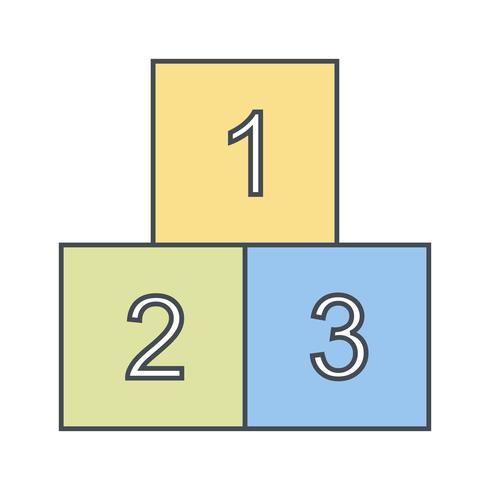 123 Cubes Vector Icon