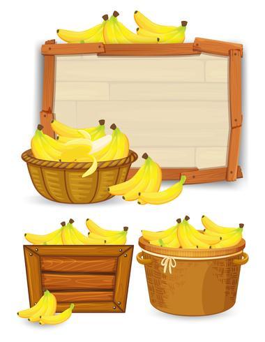 Conjunto de modelo de banana