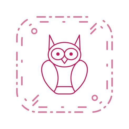 Icono de Vector de búho graduado