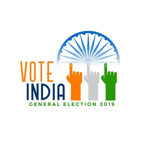 rösta Indien val med finger hand