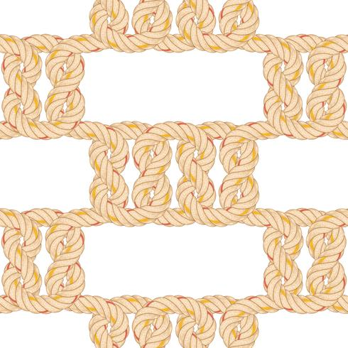 Naadloos patroon met touw buigen.