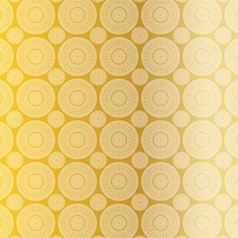 gouden witte fretwork medaillon patroon vector
