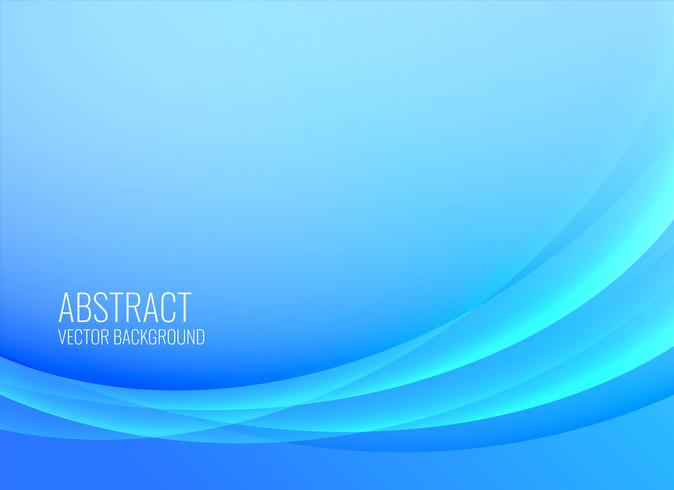 abstract blue wavy background design