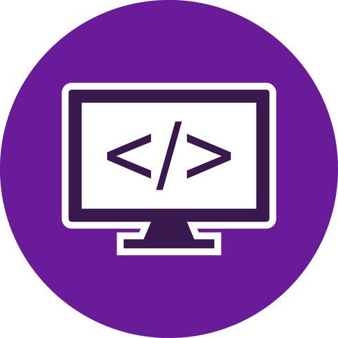 Ícone do vetor de programação