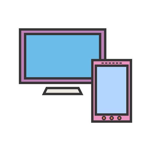 Linjefylld ikon