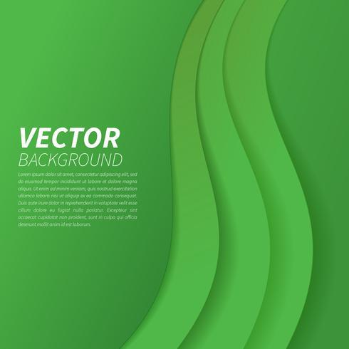 Formas onduladas no fundo abstrato verde