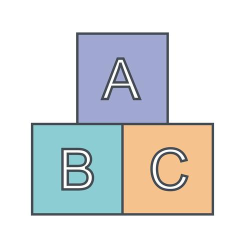 ABC kubussen vector pictogram
