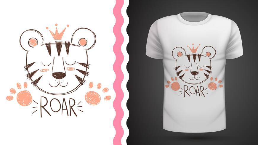 Tigre carina - idea per t-shirt stampata