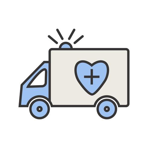 Ambulance Line Filled Icon