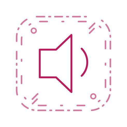 Icona di vettore del volume basso