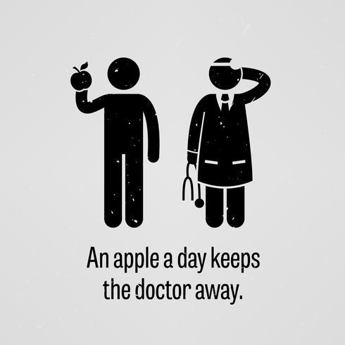 Een appel per dag houdt de dokter weg.