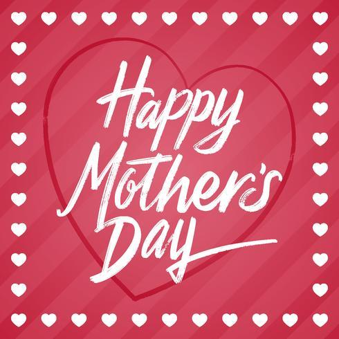 Plantilla feliz de la tarjeta de felicitación del día de madre