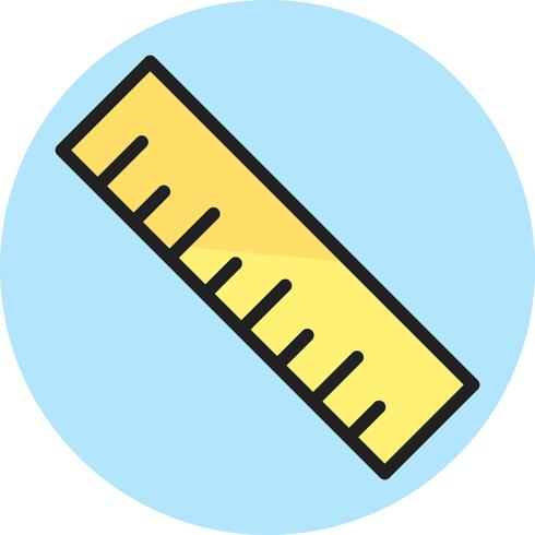 Ruler Line Filled Icon