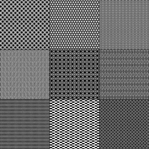patrones geométricos en blanco y negro vector