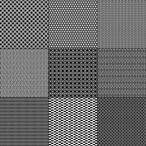 padrões geométricos mod preto e branco