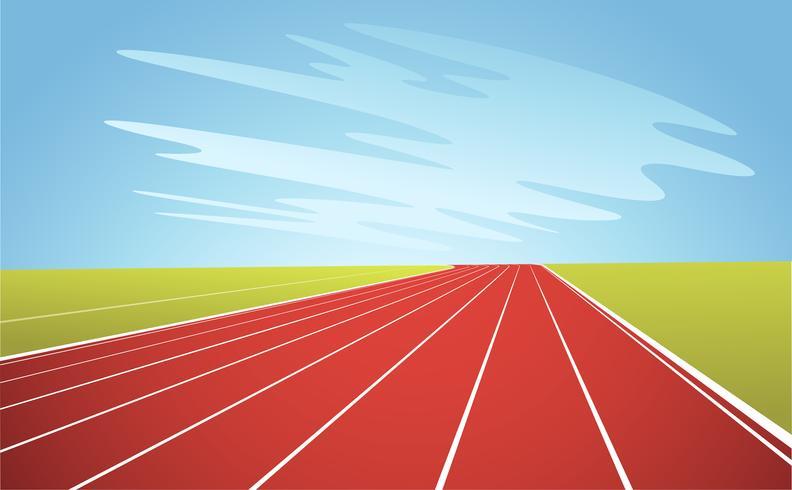 Pista de atletismo y cielo azul