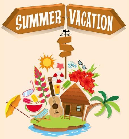 Sommarlov med bungalow på ön