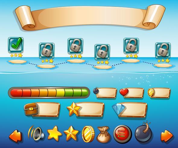 Spielvorlage mit Ocean Backgrond