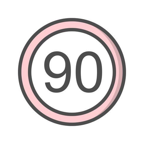 Icono de límite de velocidad de vector 90