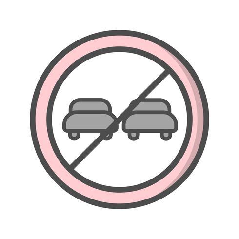 Vector Overtaking prohibited Icon