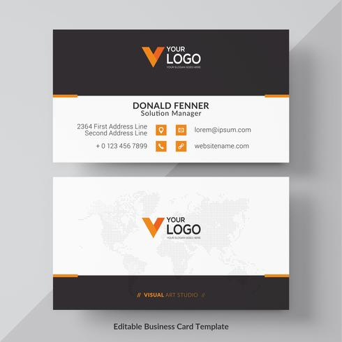 Design minimal moderno biglietto da visita