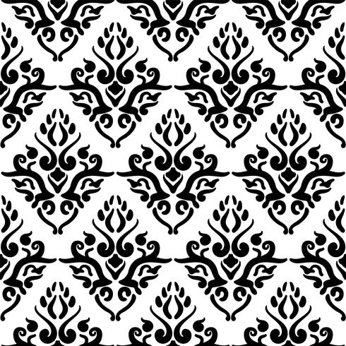 Victorian art floral seamless pattern. Vintage background, vector illustration, Victorian ornament.