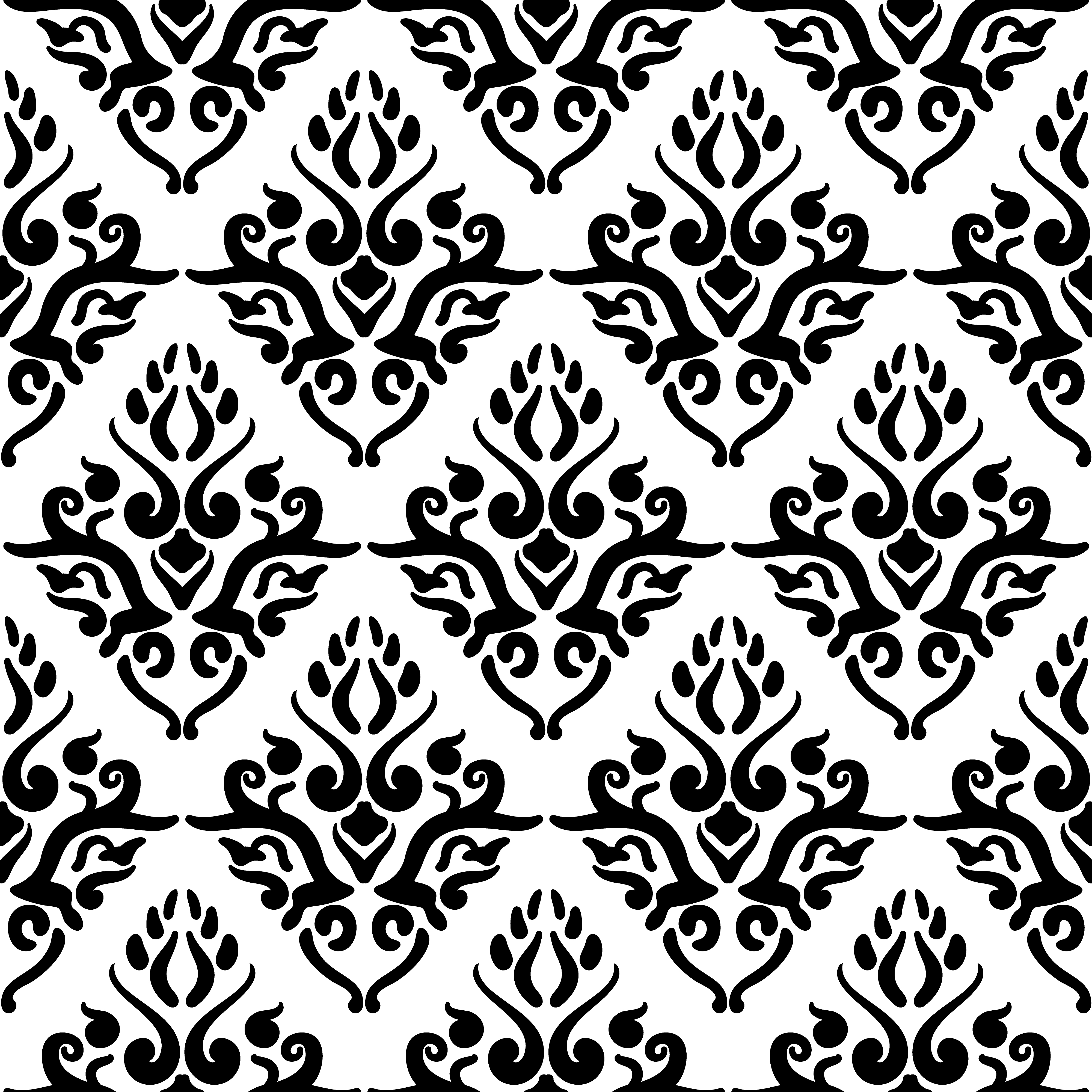 Victorian Art Floral Seamless Pattern Vintage Background