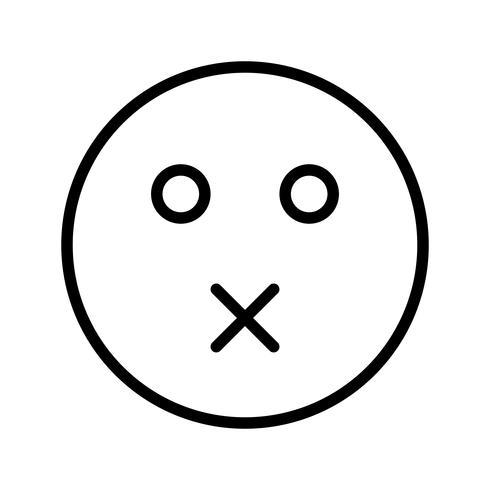 Mudo Emoji Vector Icon