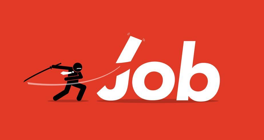 Job cut by businessman.