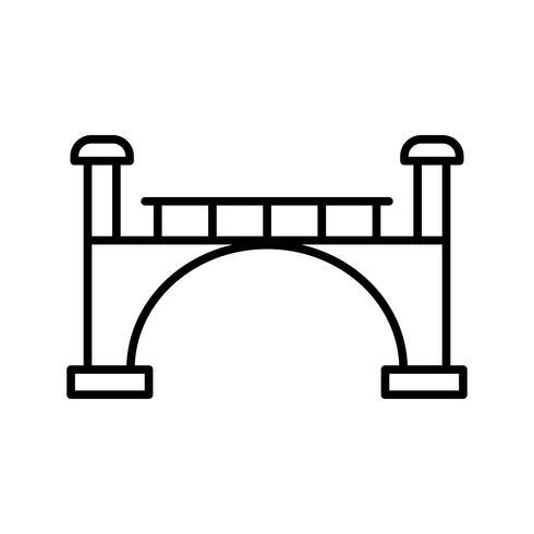 Icona linea nera del ponte
