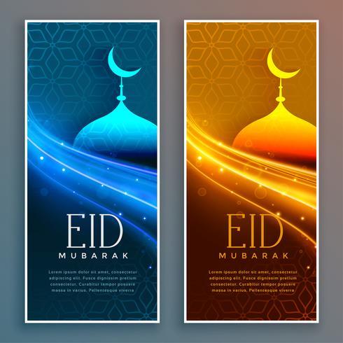 Banners de festival linda eid mubarak
