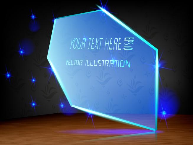 Acrylic label LED light decoration on label. vector
