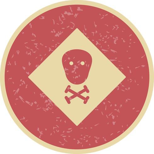 Ícone de vetor tóxico