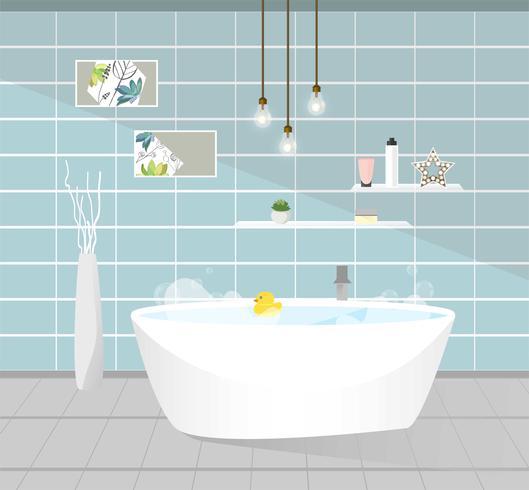Bathroom interior. Vector illustration.